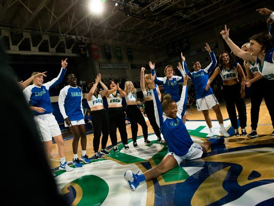 FGCU men's and women's basketball teams kicked off their 2017-18 campaigns with their annual pep rally, Dunk City After Dark, at Alico Arena Thursday, October 26, 2017 in Fort Myers.