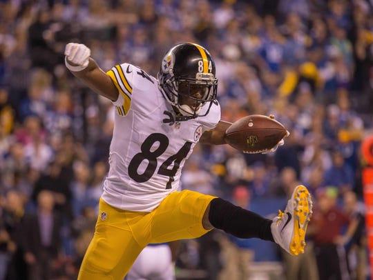 Pittsburgh Steelers wide receiver Antonio Brown (84)