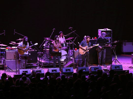 Phil Lesh and the Terrapin Family Band perform on stage at Convention Hall on the Boardwalk in Asbury Park on Thursday,  Oct. 26, 2017.