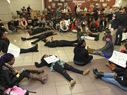 Under the revised policy, peaceful protests - like this sit-in a few years ago - will be permitted.