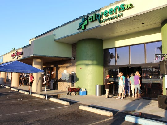 All Greens opened the first medicinal marijuana drive-thru in Arizona in Sun City on Oct. 27.