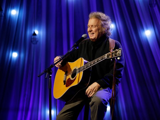 Don McLean performs during a taping of Dolly Parton's Smoky Mountain Rise Telethon Tuesday, Dec. 13, 2016, in Nashville, Tenn. Parton has lined up an all-star list of performers for a three-hour telethon to raise money for thousands of people whose homes were damaged or destroyed in Tennessee wildfires. (AP Photo/Mark Humphrey)