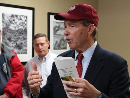 US Sen. Tom Udall visits with Las Cruces business owners