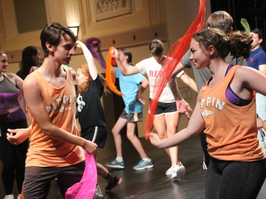 "The Tosa East Players prepare for their production of ""Pippin!"""