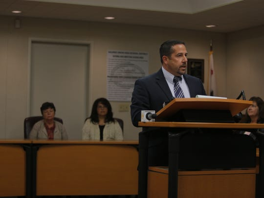Superintendent Dan Burns speaking at Thursday's press