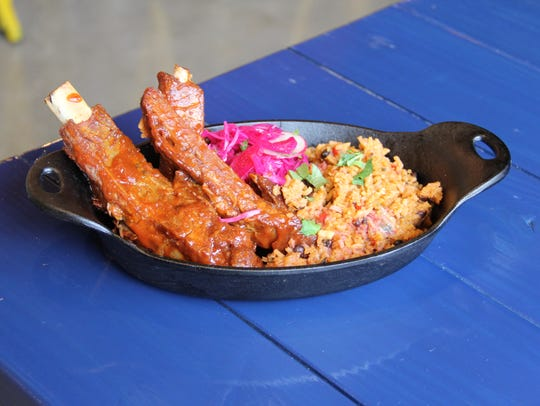 Xicha Brewing's Costillas plate comes with guava chipotle
