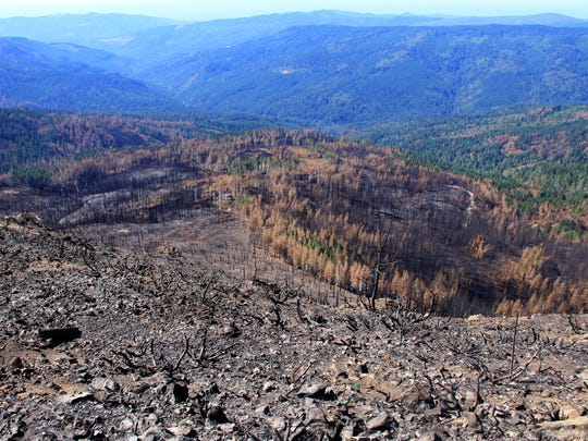 Views of the Chetco Bar Fire, which burned in southwest