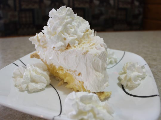 The coconut cream pie from Blue Willow Cafe in Wausau, Wisconsin.
