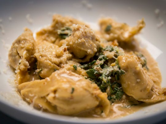 Winter Squash Tortellini at HoQ on Thursday, Nov. 2, 2017. The East Village restaurant is celebrating five years in Des Moines.