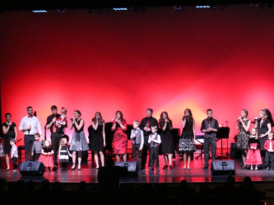 The Seibel Family Singers on  stage at the Fond du