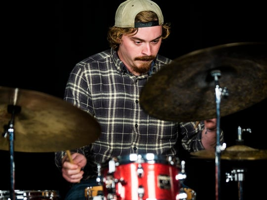 Drummer Mayo Coates performs with The Woodwork in the Naples Daily News studio on Thursday, Nov. 2, 2017.