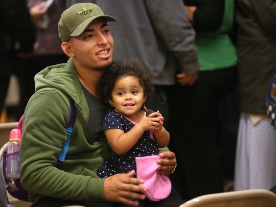 Carlos Raul Alvira Lopez ad his daughter Keydee,  relocated