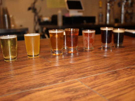 Samples of beer offered at Picacho Peak Brewing Company.