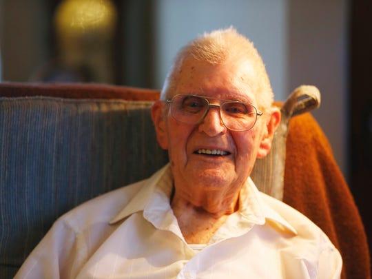 Frank Doolittle at his home in Bainbridge on November
