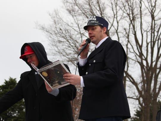"""Polar Xpress conductor David McWhorter reads """"The Polar"""