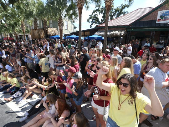 Spectators watch as FSU holds its annual Homecoming