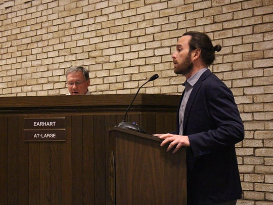Adler Groupvice president of development Adam Maittalks with Ontario City Council members Wednesday, Nov. 15, 2017. The Adler Group wants the city to give an extension to the group on its redevelopment agreement for the former General Motors site.