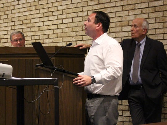 David Adler, president of Adler Development, one arm of the Adler Group,talks with Ontario City Council members Wednesday, Nov. 15, 2017. The Adler Group wants the city to give the group an extension on its redevelopment agreement for the former General Motors site.