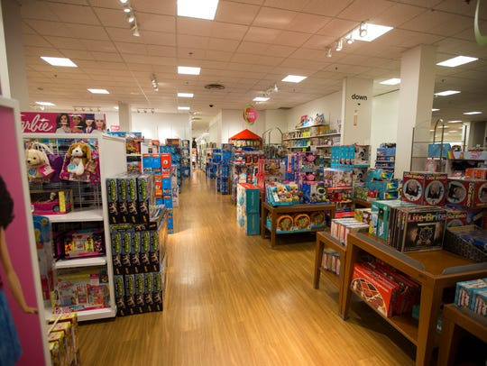 Toys fill a section on the second floor of JCPenney