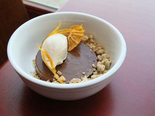 The Diplomat's chocolate mousse, served with caramel