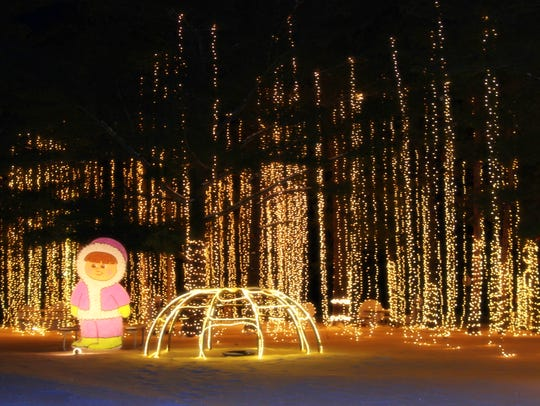 Curtains of lights dazzle guests at the Wisconsin Christmas