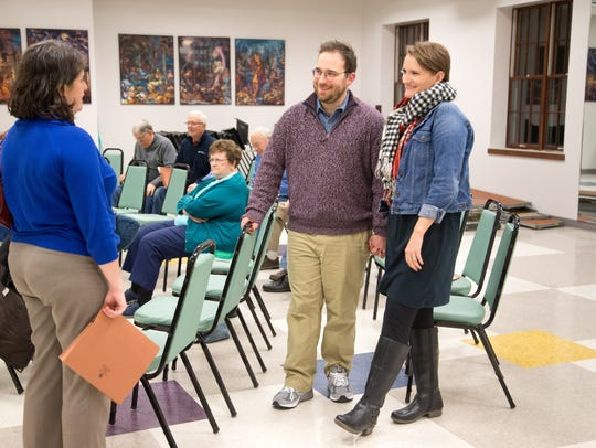Grant and Katelyn Hobin at choir practice at Westminster