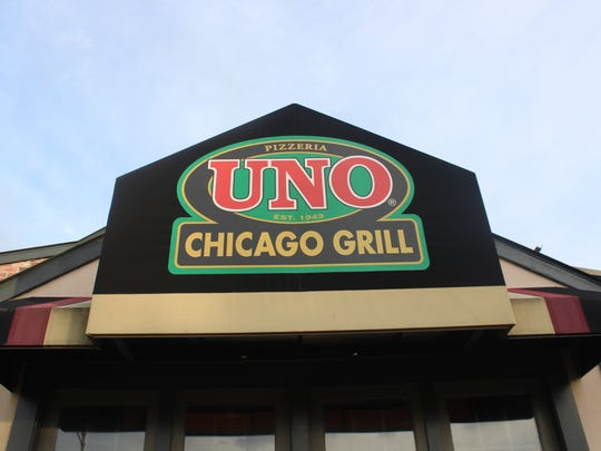 Uno Pizzeria & Grill in Poughkeepsie sits empty on Sunday. Its doors were locked.
