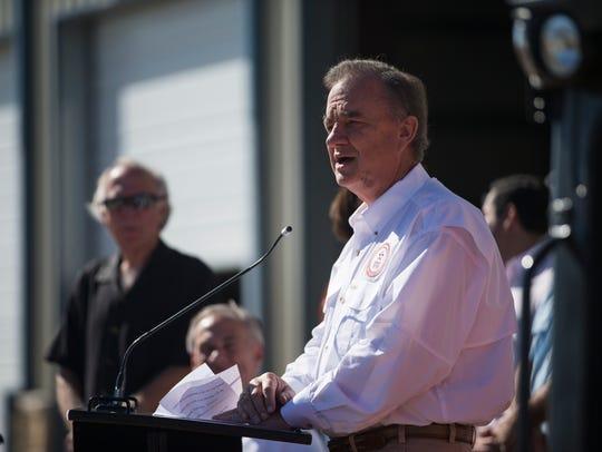 Texas A&M Chancellor John Sharp talks about Hurricane