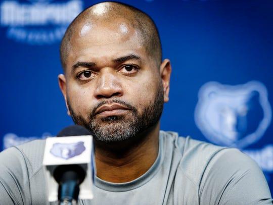 Memphis Grizzlies new interim head coach J.B. Bickerstaff