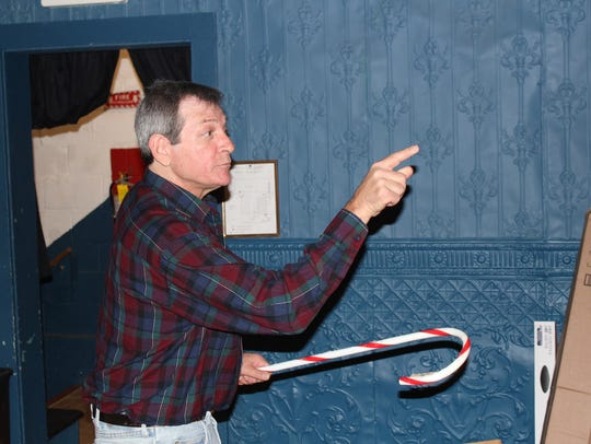 John Weiner rehearses a scene from the Cumberland Players'