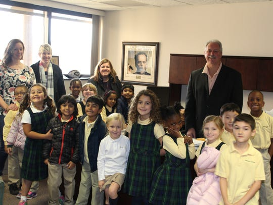 First graders from The Wardlaw+Hartridge School in