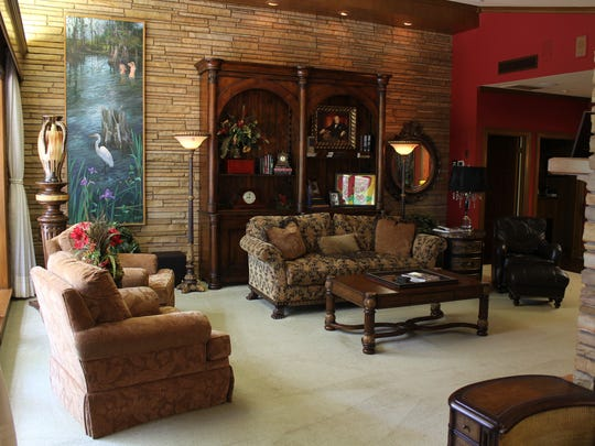At 6,077 square feet, this luxury estate on Twelve Mile Bayou features lot of room to entertain.