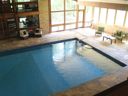 The pool at 3800 Old Mooringsport Road.