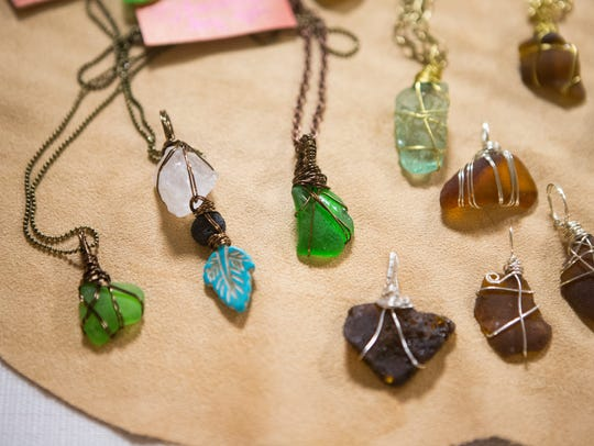 Handmade jewelry sold at the 8th annual Wilmington