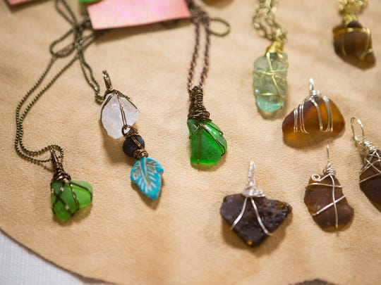 Handmade jewelry sold at the 8th annual Wilmington in Transition Local, Sustainable Food & Gift Fair Sunday at Silverside Church.