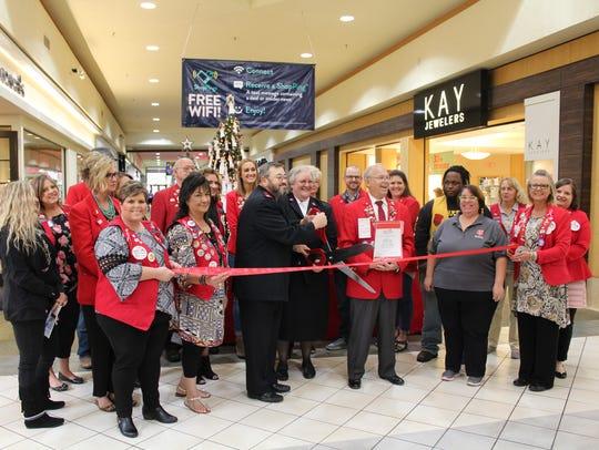 The Abilene Chamber of Commerce Redcoats celebrate