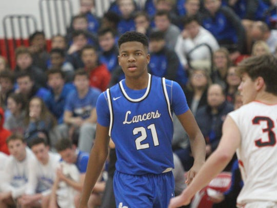 Brookfield Central freshman David Joplin marches up