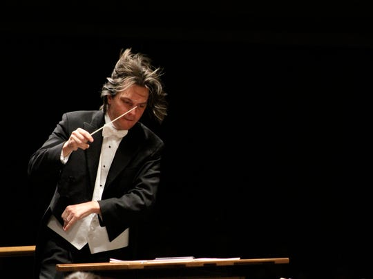 Daniel Meyer conducts the Asheville Symphony in the opening concert of the 2017-18 season. His last concert with the orchestra will be New Year's Eve.