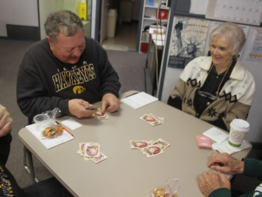 Cards is a popular afternoon activity at the Marengo