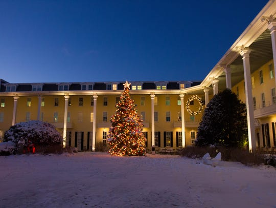 When the weather cooperates, there is nothing more festive than Congress Hall in Cape May decked out for the holidays.