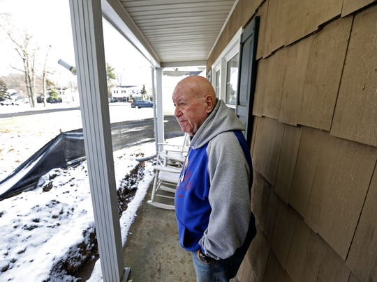 Retired Keyport teacher Dick Woolf at his Middletown home.