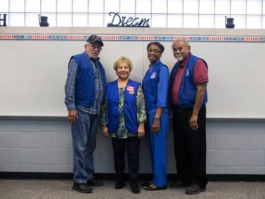 Chris Sanchez (from left), Maggie Renteria, Ella Mason