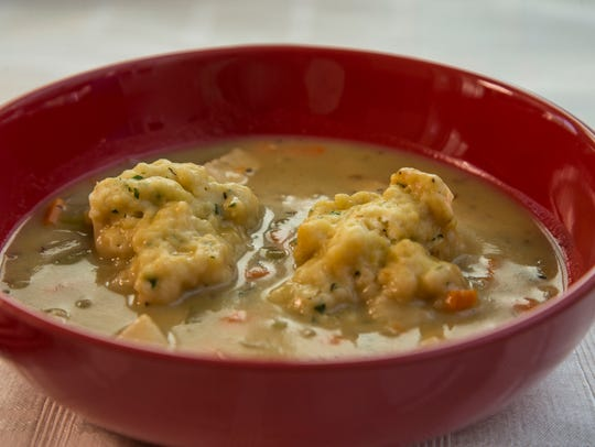 Chicken soup with parsley dumplings from Robin Miller
