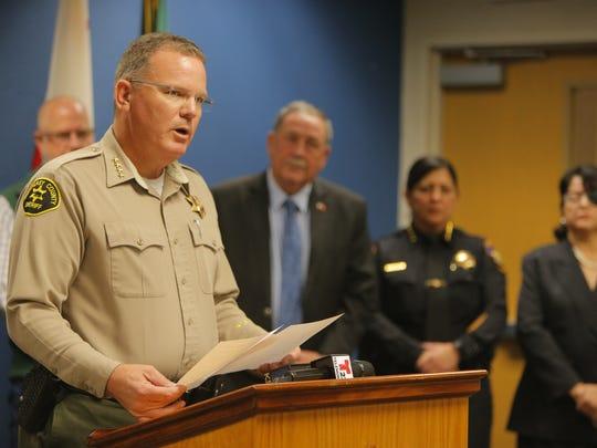 Monterey County Sheriff Steve Bernal at Monday's Press Conference.