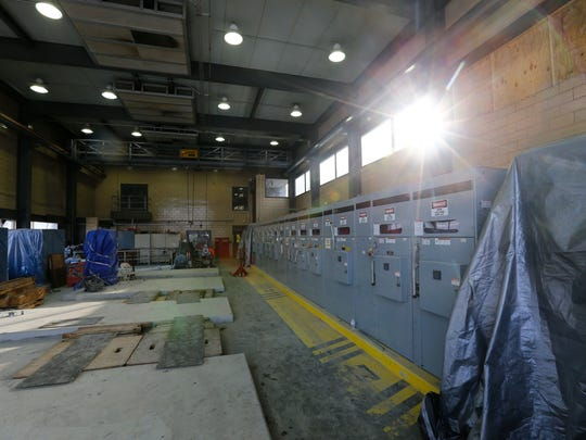 A room containing electrical transformers at the Binghamton
