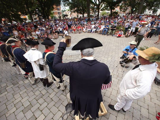 The annual Reading of the Declaration of Independence on the Morristown Green as part of Revolutionary Times happens every July 4.