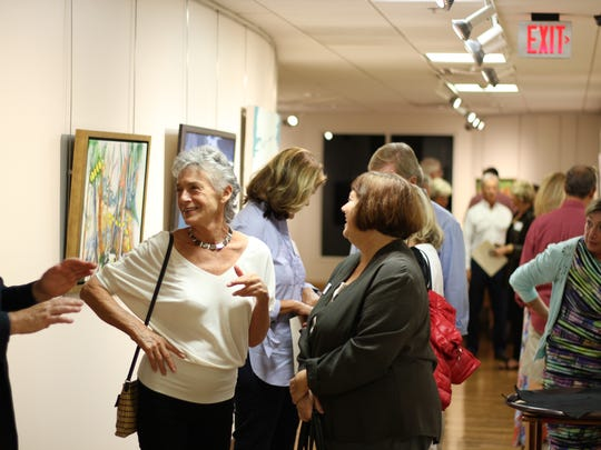 Artists and jurors at the opening of the United Arts Council Counties exhbition
