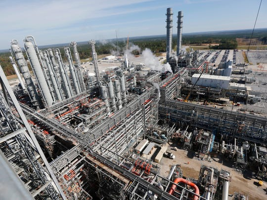 File - In this Nov. 16, 2015, file photo, an over view shows a section of the Mississippi Power Co. carbon capture plant in DeKalb, Miss. In late June, Mississippi Power announced it was suspending its lignite coal gasification operation at the Kemper County plant. A variety of problems, economic, governmental and physical, plagued the facility which provided several hundred jobs in an otherwise rural part of the state.