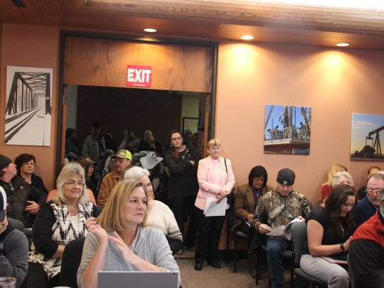 Nearly 100 people attended the Eddy County Commission meeting on Tuesday, Jan. 2, 2018 about the Eddy County Solid Waste, Illegal Dumping and Nuisance Ordinance.