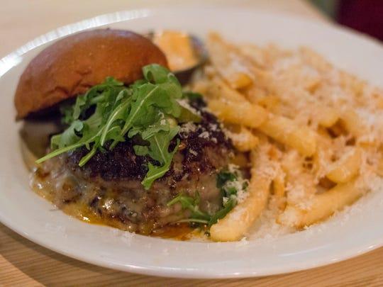 The Original Bourbon Bacon Jam Burger served with truffle